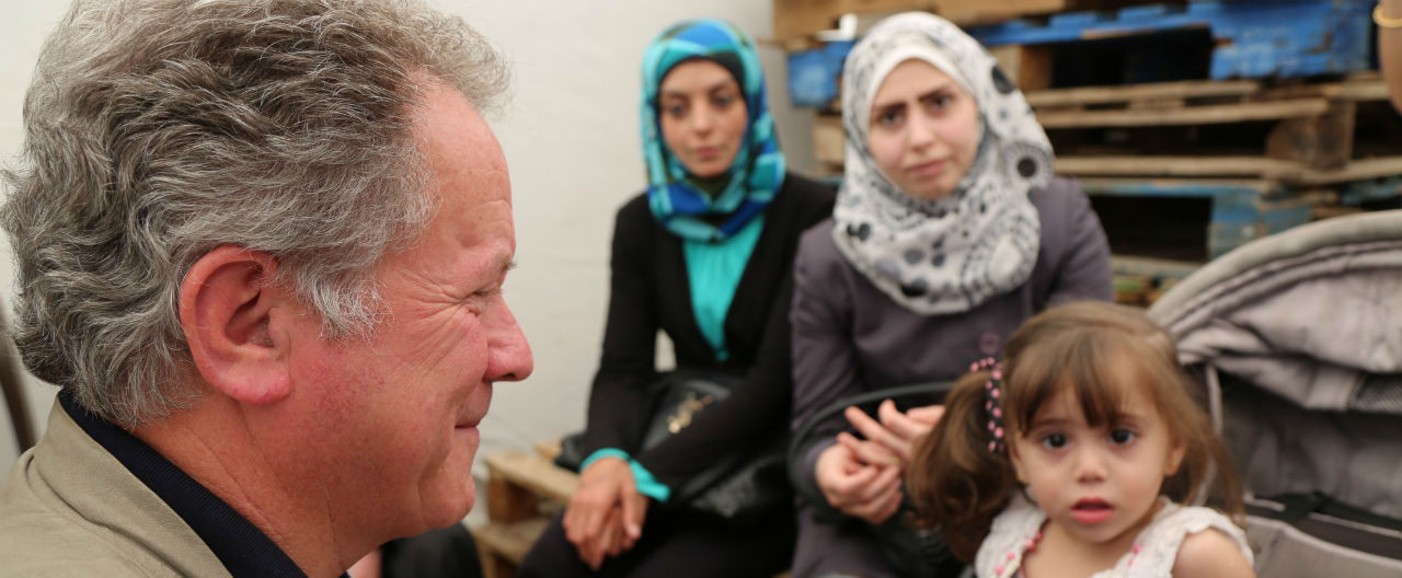 david beasley visiting region affected by conflits